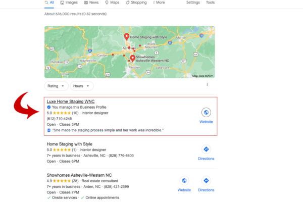 asheville gmb google my business optimization