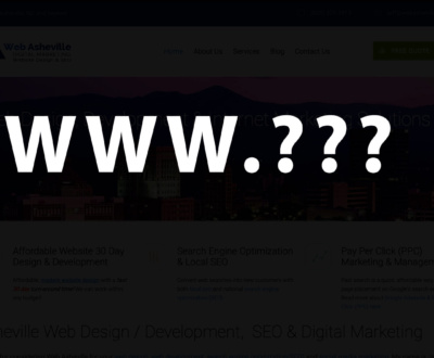how to choose a domain website name